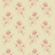 Braveheart by Makower UK - 6637 - Traditional Floral Stem on Cream  - 9175_RL - Cotton Fabric